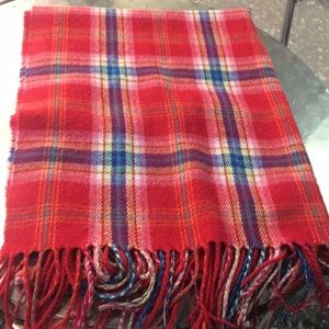 Hollister red plaid scarf blanket